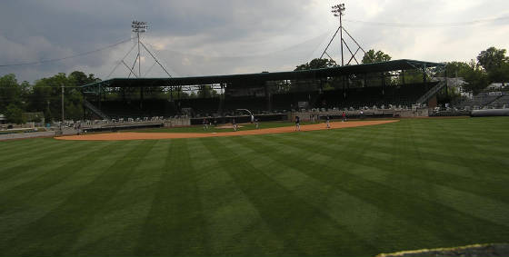 Grainger Stadium - Kinston, NC - From CF