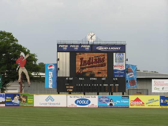 The Scoreboard - Grainger Stadium - Kinston,NC